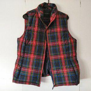 Talbots Plaid Down Puffer Vest